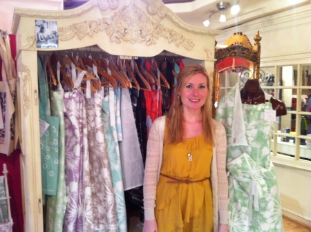 Rachael with some of her textiles in Heart Gallery September 2011