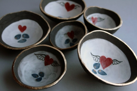 Some gorgeous love nest bowls arrived from Jo Luckstead this week.
