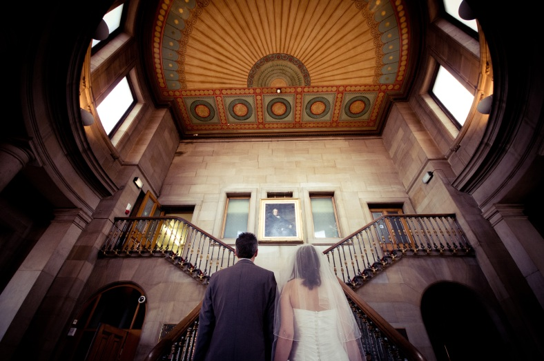 Matt and Sarah at Todmorden Town Hall - courtesty Sarah Mason