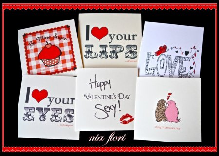Sexy and stylish choice of Valentines cards by lovely lass Nia