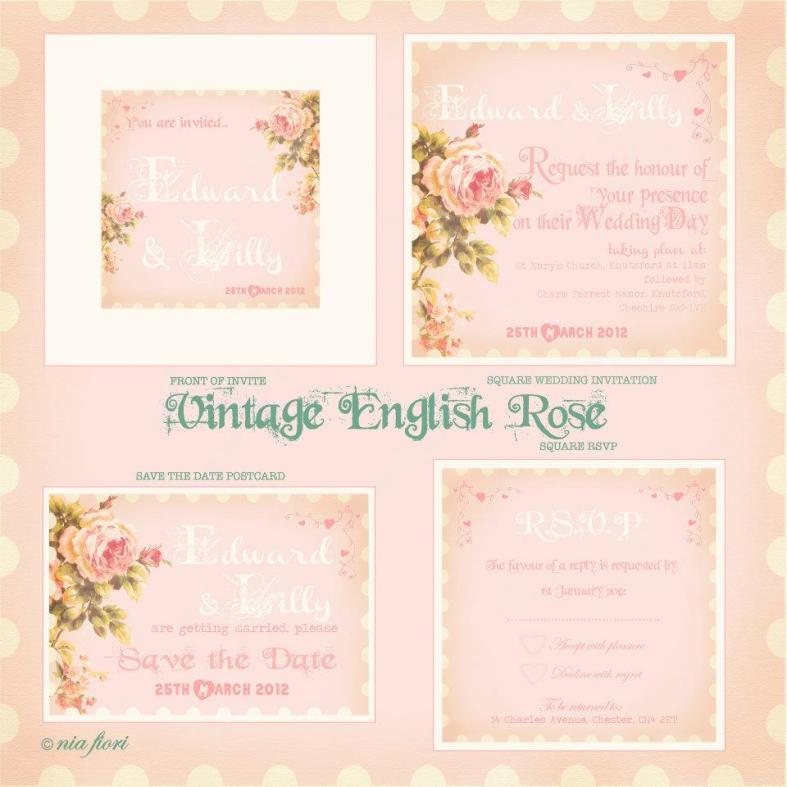 Nia's Vintage english Rose designs