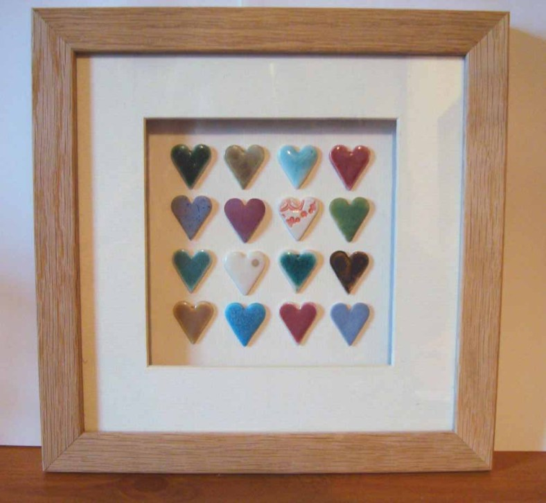 These framed ceramic hearts are so sweet, hand delivered by Sophie Steen this weekend