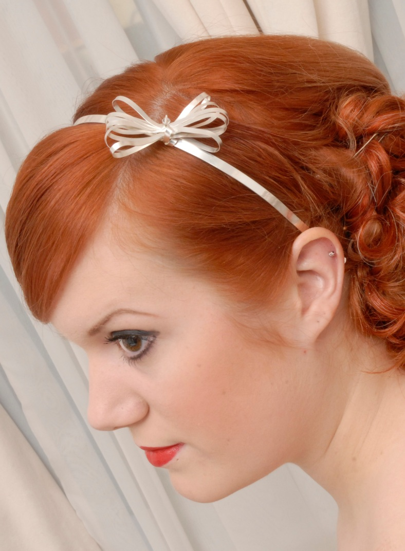 Florence silver hair piece