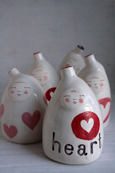 Ceramic genie bottles - great little pressie for someone you love