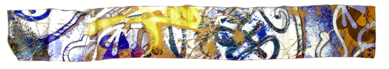 Graffiti yellow skinny scarf