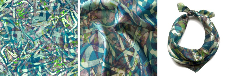 Graffiti square scarf