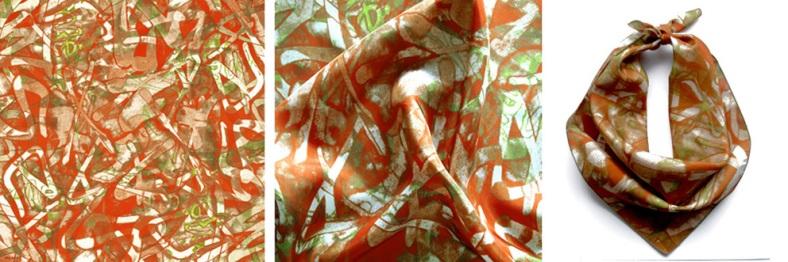 Graffiti square scarf