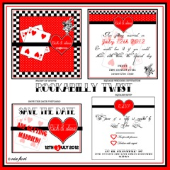 Rockabilly Twist Wedding Stationery
