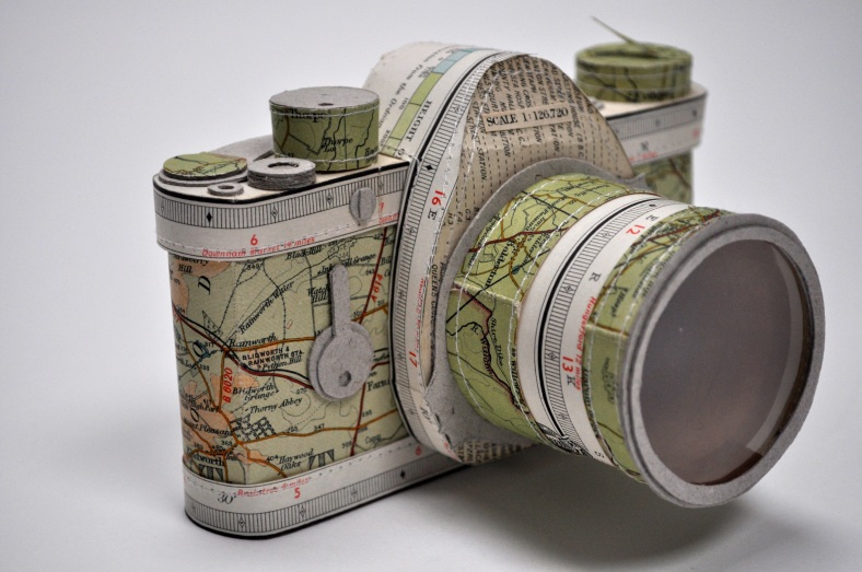 SLR camera using a local map
