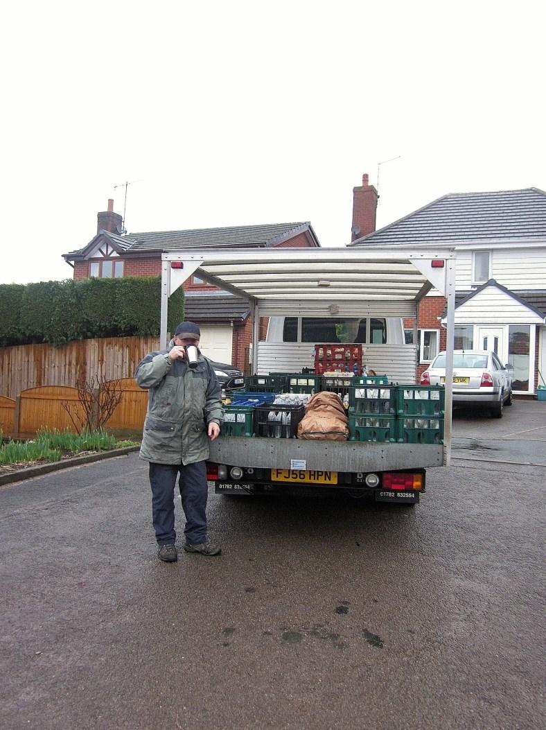 Lucy's dad and his van