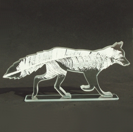 Feather Fox by glass artist Rachel Elliott