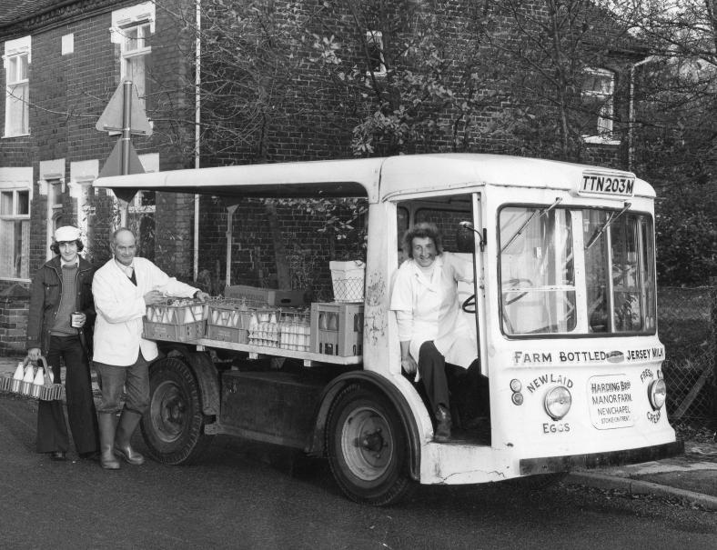Lucy's grandfather's electronic milk float
