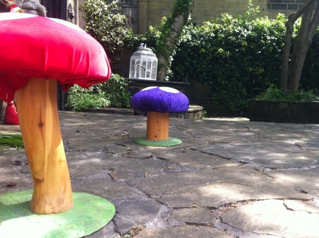Toadstools kindly lent to us by The Old Treehouse, Market Street, Hebden Bridge