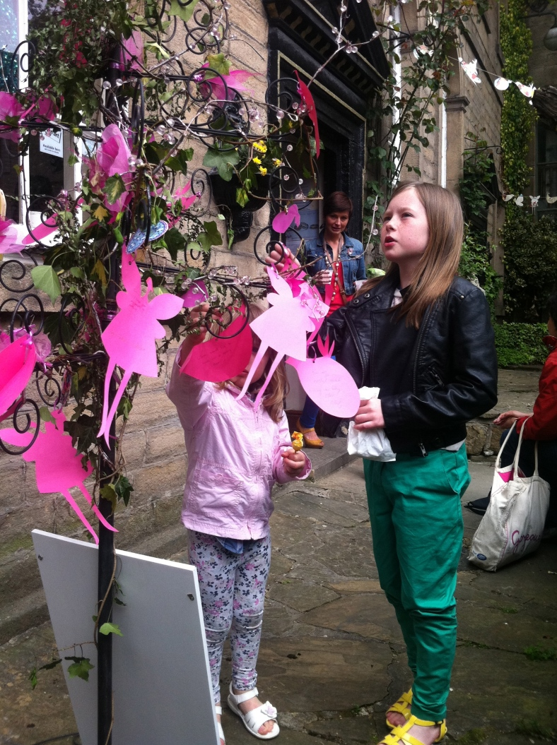 Children enjoying the Fairy Wish Tree