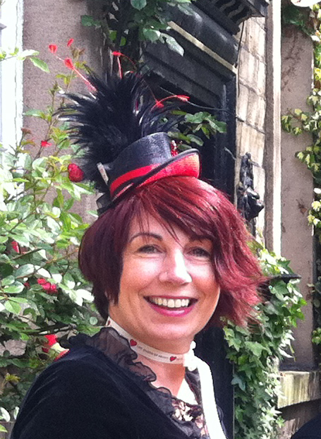 My Queen of Hearts hat was made by Heart Gallery's resident artist Heather Wilson
