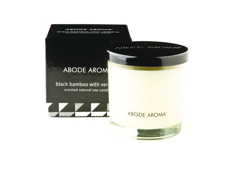 Black Bamboo and Verbena soy candle