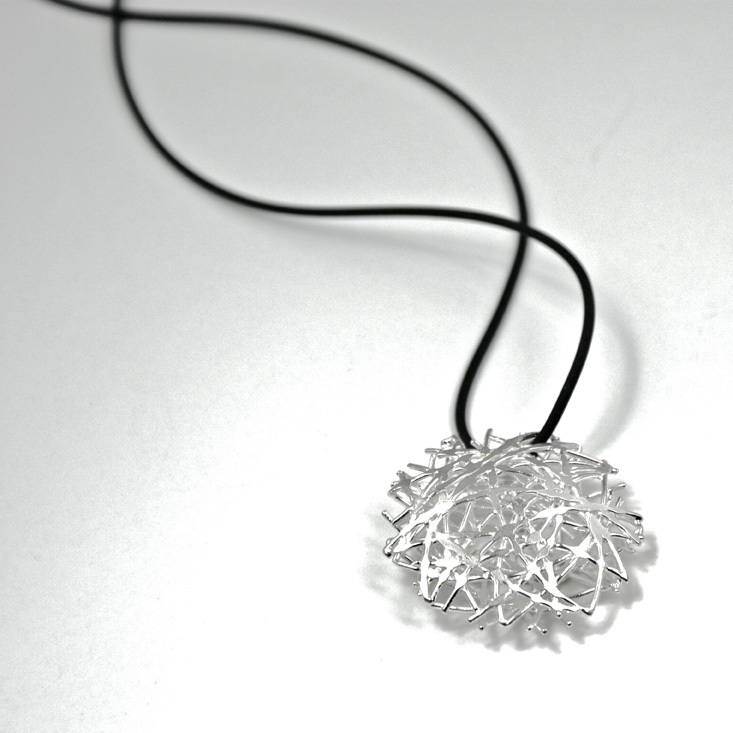 Silver necklace from the Nest Collection