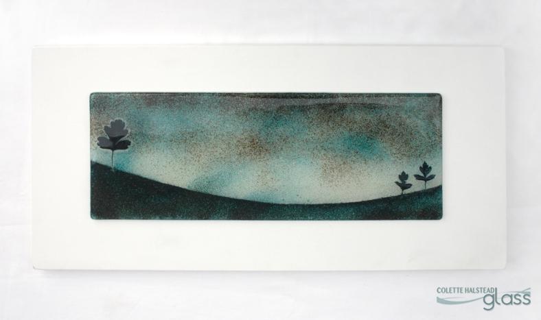 Colette Halstead Glass - Hawthorn Landscape Wall piece
