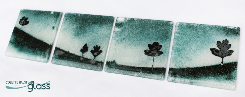 Colette Halstead Glass - Landscape coaster set