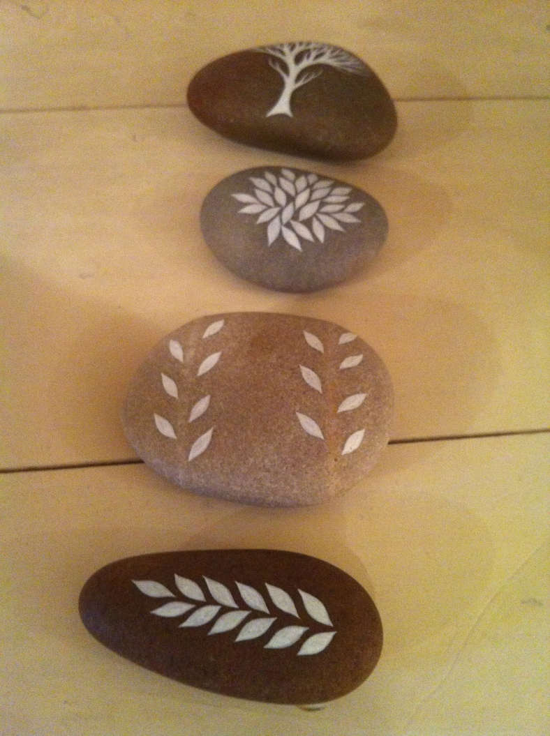 Hand painted pebbles - Natasha Newton