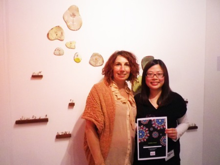 Awarding Suet Yi with her certificate and the chance to exhibit with me in 2012