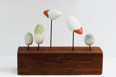 Suet Yi - ceramic birds and trees