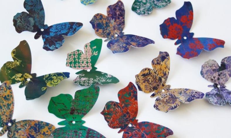 Wall  mounted butterflies