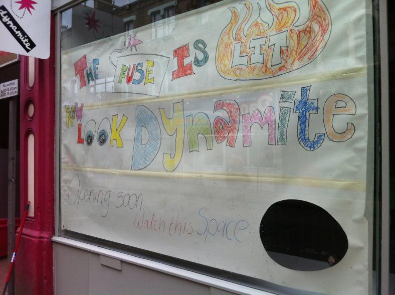 Dynamite's teasing sign!
