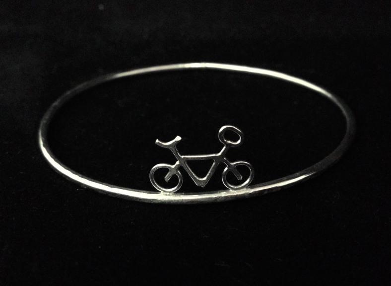 Silver bike bangle
