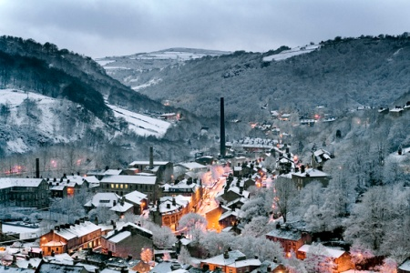 Hebden Bridge at Dusk - award winning photograph by local and nationally acclaimed photographer Nigel Hillier