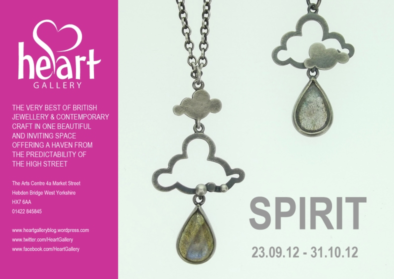 SPIRIT invite - launches at Heart Gallery Sunday 23 September