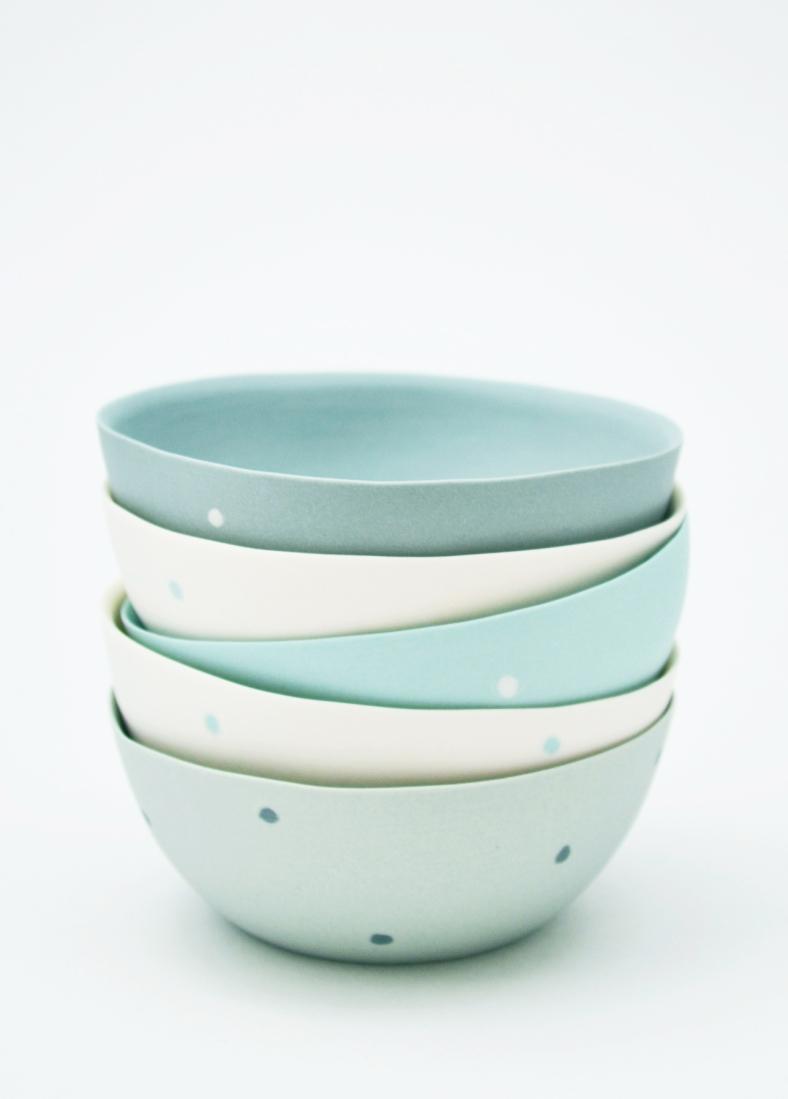 Porcelain bowls - Simone Morris