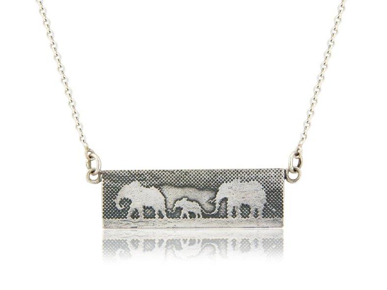 Elephant Family Necklace