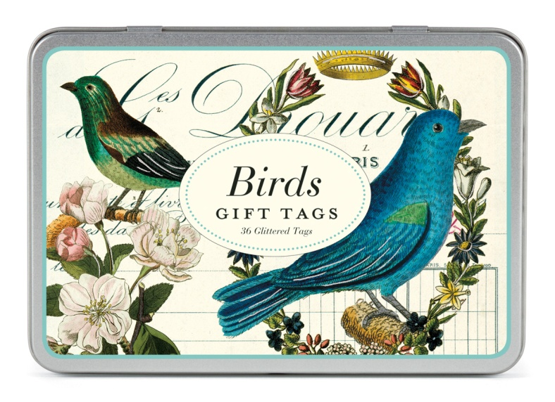 Bird gift tags in presentation tin