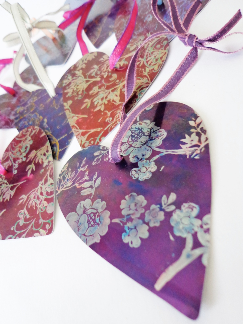 Heart hangings - Caroline Parrott