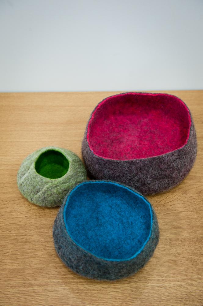 Jenny Tidman - felt bowls