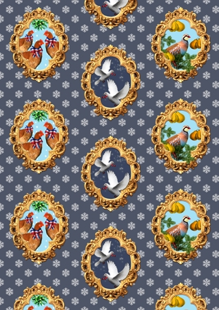 Christmas Carol wrapping paper