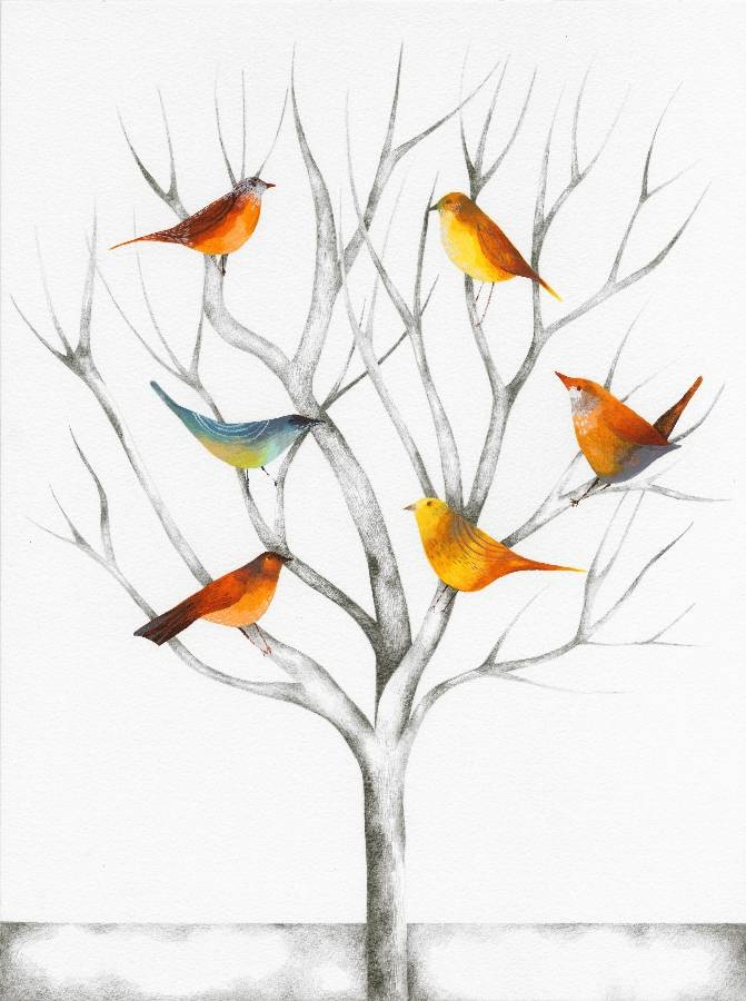 Winter Birds - Julia Ogden