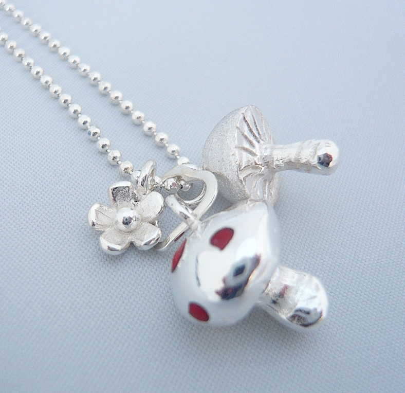 Toadstool necklace