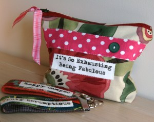 Quote purse & key fobs