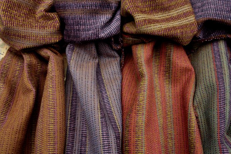 Sarah Tyssen - hand woven lambswool scarves