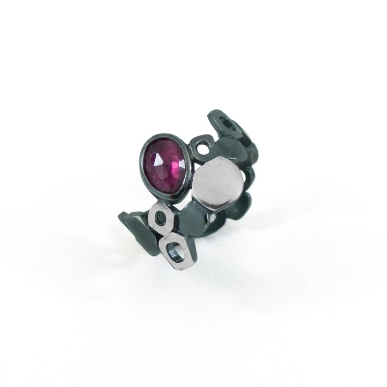 Pink Tourmaline Lamella Ring