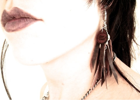 Cate's jewellery modelled