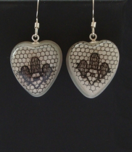 Lace Heart Earrings