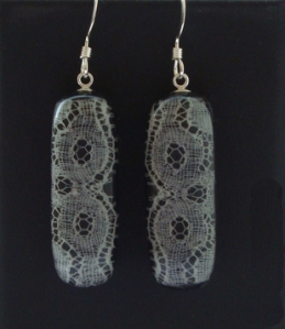 Long lace earrings
