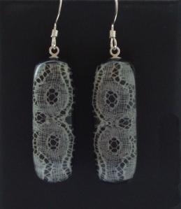 Long lace earrings