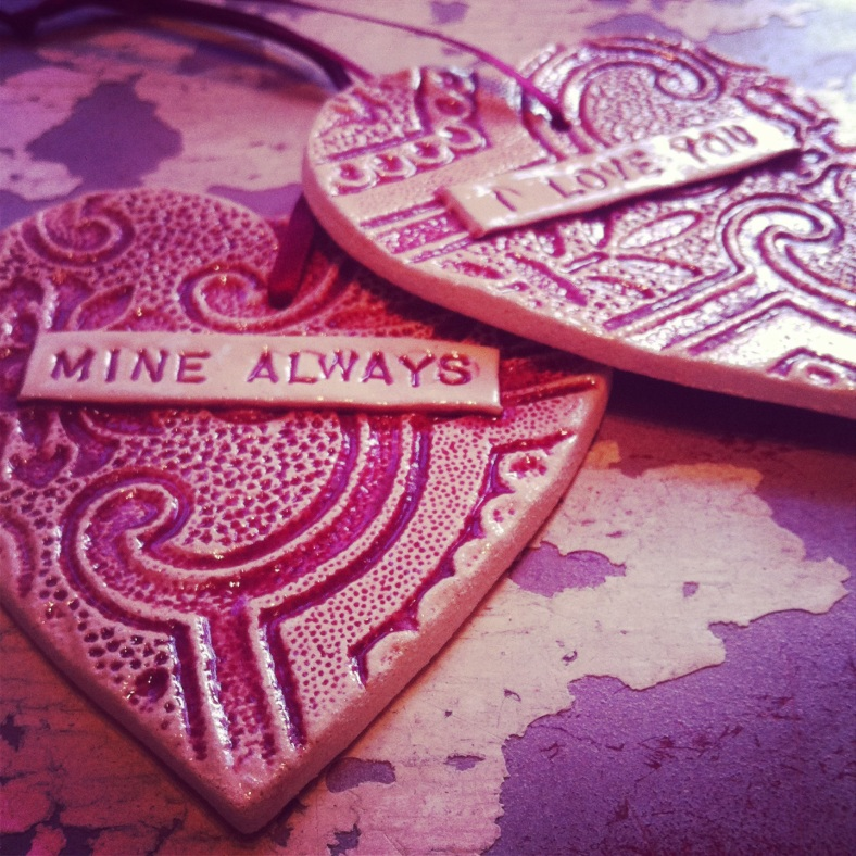 Ceramic hearts (can be personalised)