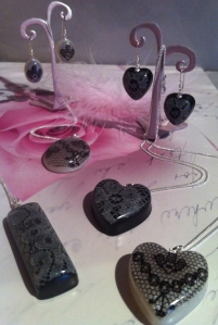 Lovely Lace and Resin Collection at Heart Gallery