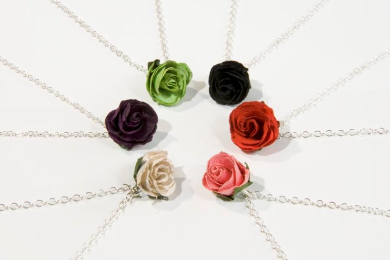 Rosebud necklaces