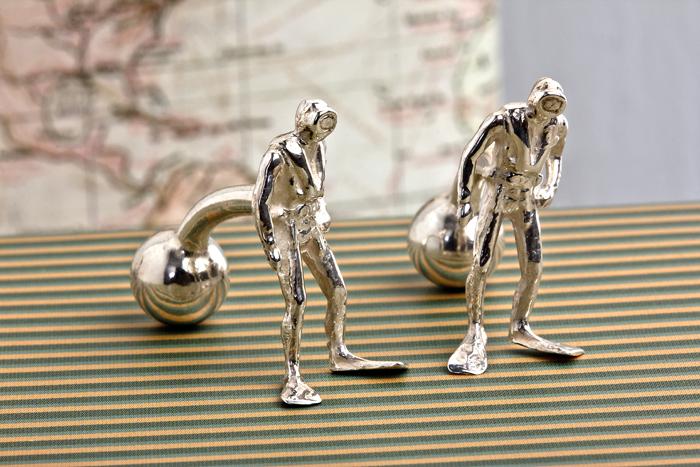 Silver Diver Cufflinks